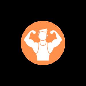 body builder vector logo